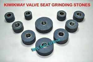 Kwikway Valve Seat Grinding Stone Set 10 Pc 80 Grit Medium