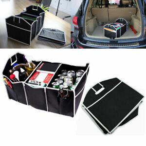 Foldable 3 Compartment Trunk Organizer Cooling Insulation Car Suv Truck Van Auto