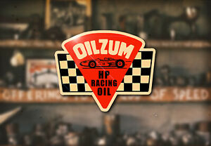 Vintage Oilzum Race Water Decal Hot Rod Rat Flathead Ford Drag Oil Model A T 32