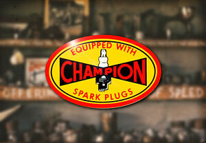 Vintage Champion Water Decal Hot Rod Rat Flathead Ford Spark Plug Model A T 32