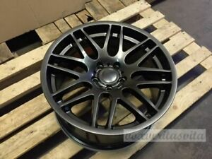 Staggered New Set Of 4 Wheels 19 Csl Style Gunmetal Grey Fits Bmw 3 4 5 Series