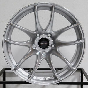 4 new 17 Vors Tr4 Wheels 17x8 17x9 5x114 3 35 30 Silver Machined Staggered Rims
