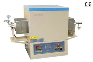 New 1700 c Vacuum And Atmosphere Tube Furnace 80mm With Complete Accessory