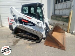 2017 Bobcat T595 Skid Steer Erops Heat ac radio Roller Suspension 74hp Diesel