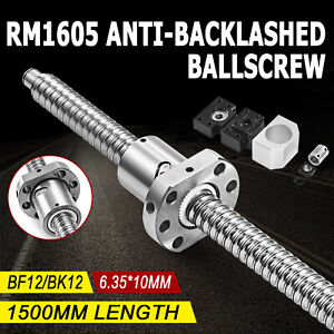 Ball Screw 1605 1500mm Lead Rod Machined Shaft Coupling Bf12 Bk12 End Support