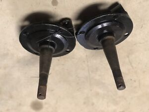 1937 41 Original Ford Spindles Round Back Forged Steel With No Steering Arms