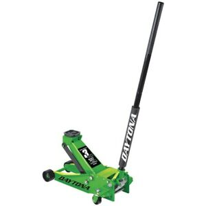 3 Ton Steel Professional Floor Jack With Rapid Pump Green Cars Trucks Suvs