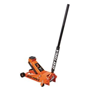 3 Ton Steel Professional Floor Jack With Rapid Pump Orange Cars Trucks Suvs