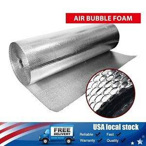 830 Sqft Bubble Insulation Double Foil Reflective For House Home Floor Wall Roof