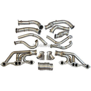 Cxracing Twin Turbo Header Kit For 63 67 Chevrolet Chevelle Sbc A Body