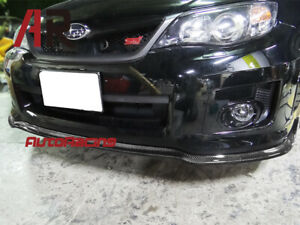 Cs2 Type Carbon Fiber Front Bumper Lip For 2011 12 Subaru Impreza Gvf Wrx Sti