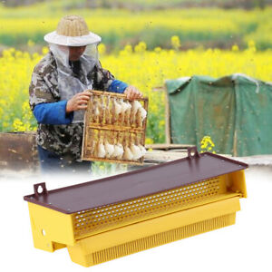 Pollen Trap Powder Remover For Apiculture Yellow Plastic Beekeeping Equipment