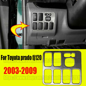 For Toyota Prado Fj120 2003 2009 Head Light Lamp Switch Button Frame Cover Trim