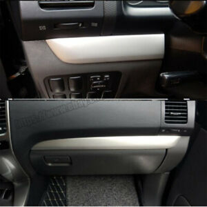 Stainless Center Console Decoration Strips Trim For Toyota Prado Fj120 2003 2009