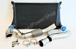 Turbo Catless Downpipe Intercooler Kit For Vw Golf Gti Mk7 Audi A3 1 8t 2 0t