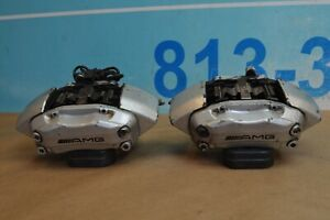 03 06 W209 Mercedes Clk55 C55 Amg Front Brake Calipers Left And Right Pair Oem