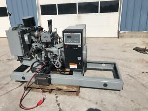 __30 Kw Mtu Generator Set 12 Lead Reconnectable Low Hours John Deere Engine