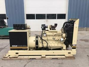__100 Kw Kohler Generator Set 12 Lead Reconnectable 1996 John Deere Engine