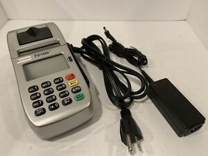 First Data Fd100ti Credit Card Machine P n 001642020 With Power Supply