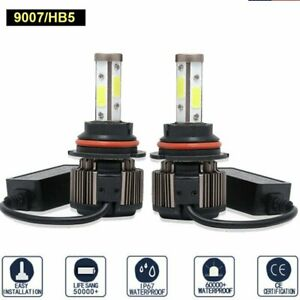9007 Hb5 Led Headlight Bulbs High Low Beam Car Light White 6500k 720000lm 2pcs