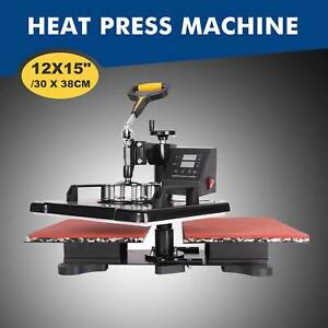 12x15 30x38cm Double Station Sublimation Transfer Printing Heat Press Machine