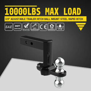 10000lbs Max Load Adjustable Trailer Hitch Ball Mount Steel Rapid Hitch