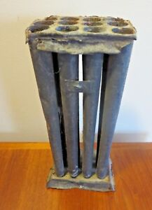 Candle Mold 12 Hole Tapered Primitive Tin Early Antique Vintage 10 Tall