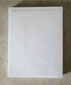 Levenger Special Request Annotation Ruled Refill Sheets 300 Unpunched Letter