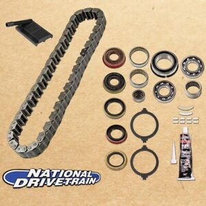 Transfer Case Chain Filter Bearing Rebuild Kit Fits Jeep 87 93 Np231j