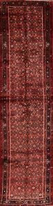 Geometric Malayer Oriental Long Runner Rug Wool Hand Knotted 4x14 Red Carpet
