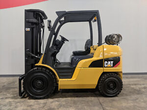 2011 Cat Caterpillar P8000 8000lb Solid Pneumatic Forklift Lpg Lift Truck Hi Lo