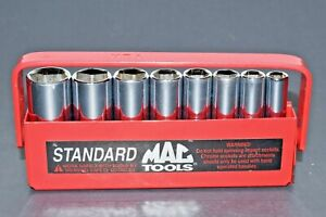 Nice Mac Tools 1 4 Drive Deep 8 Piece Standard Sae 6 Point Socket Set Smd86tr