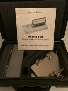 Mahr Federal Brown sharpe Pocket Surf Iii Surface Roughness Tester Profilometer