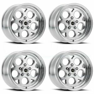4 new 15 Vision 561 Sport Mag Wheels 15x8 15x10 5x114 3 0 0 Polished Staggered
