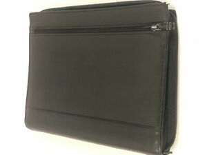 Tumi Modernist Black Leather Letterpad Portfolio Legal Pad