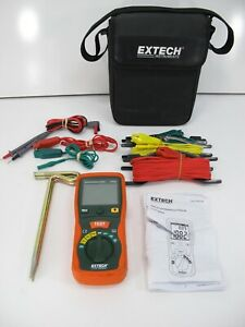 Extech 382252 Earth Ground Resistance Tester Kit Leads Ground Rods Accessories