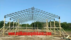 60 Wide Steel Truss Pole Barn Hay Barn shop horse Barn storage