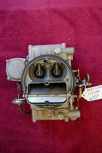 Corvette chevrolet Holley Carb Used Original Dated 222 Part 3884505 list 3367