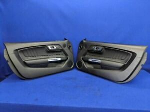 2015 2016 2017 2018 Ford Mustang Leather Bronze Stitched Door Panel Trim Pair