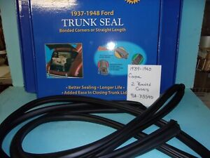 1939 1940 Ford Coupe Trunk Decklid Rubber Seal