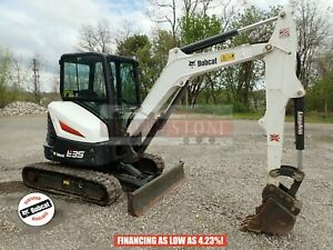 2018 Bobcat E35 Mini Excavator Cab Heat ac Long Arm Aux Hydraulics 169 Hrs