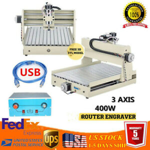 Mini 3 Axis 3040 Cnc Diy Router Engraver Drill Milling Machine Cutter 400w Us