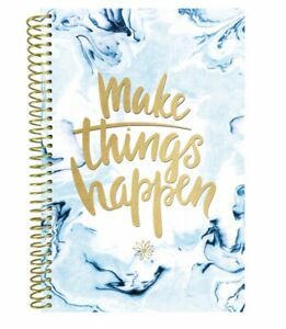 New Daily Planner Organizer Undated Make Things Happen Blue White