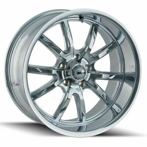4 new 20 Ridler 650 Wheels 20x8 5 20x10 5x114 3 30 38 Chrome Staggered Rims