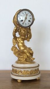 French Ormolu Mantle Clock By Henry Dasson Circa 1870