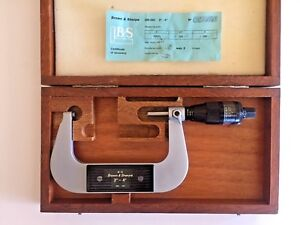 Brown Sharpe 3 4 Digit Mike Swiss Made 40 10 Micrometer With Wooden Case