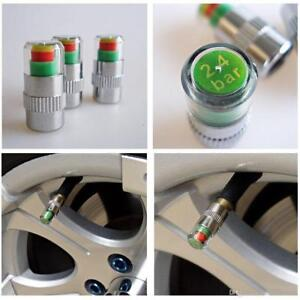 4pcs Car Auto Bike Tire Pressure Monitor Valve Stem Cap Sensor Alert Indicator