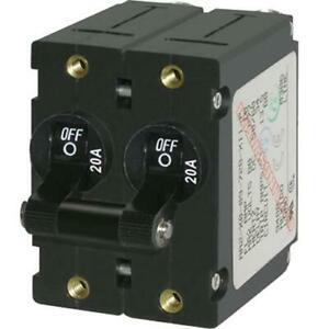 Breaker A 2 Pole Blk toggle Ac dc 20a