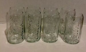 Coca Cola 12 Oz Can Shaped Drinking Glasses Tumblers Set Of 8 New