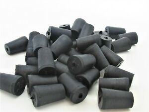 000 Solid Rubber Stoppers 1 Hole Tapered Plug Corks Fits 11 32 To 15 32 Id